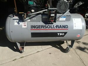 Air Tank Ingersoll Rand T 30 120 Gallon From 2545 Air Compressor T30 W Casters