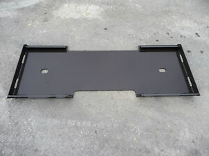 3 16 Quick Tach Adapter Attachment Mount Blank Plate Fits Skid Steer Bobcat