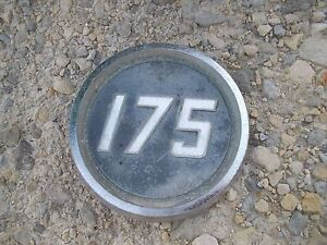 Massey Ferguson 175 Tractor Original Mf Front Hood Side Panel Oval Emblem Rare