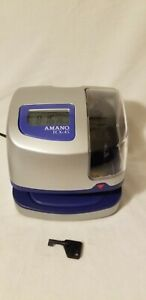 Amano Tcx 45 Electronic Time Clock With Time And Date Stamp Key Included