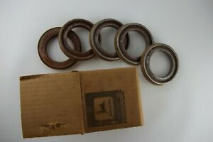 Vintage Nos John Deere Tractor 5pc Axle Seals L 2337 n New Old Stock