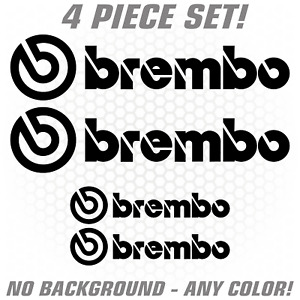 4pc Brembo Brake Caliper High Temp Sticker Decal Logo Z33 Sti Evo Set Jdm Rear