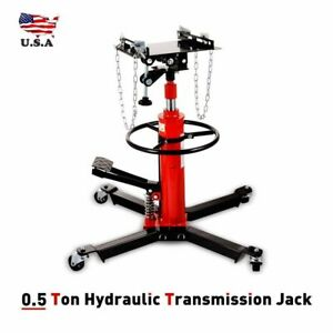 1660lbs Transmission Jack 2 Stage Hydraulic With 360 Auto Lift For Car Lift