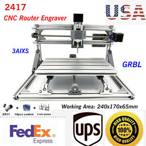 2417 3 Axis Laser Engraver Cnc Milling Router Diy Desktop Usb Engraving Machine