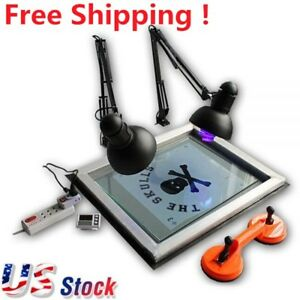 Usa Uv Exposure Unit Screen Printing Plate Making Silk Screening Diy 20 X 24