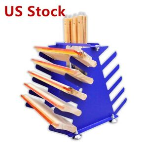 Us Stock Screen Printing Squeegee Holder Desktop Shelving Tool Rack 5 Layers