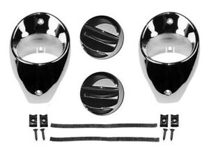 1966 1967 Chevelle El Camino Malibu Chrome Dash Ball Vent Kit
