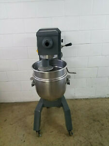 Univex M30 30 Qt Dough Mixer Hook Bowl 115 Volts 1 Phase On Wheel Tested