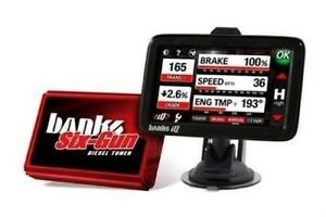 Banks 63729 Six Gun Tuner With Iq Monitor 01 04 Chevy Gmc Duramax 6 6l Diesel