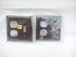 Outlet Wall Cover Switch Plate Bakelite Sierra Brown Outlet Toggle Nos X 2