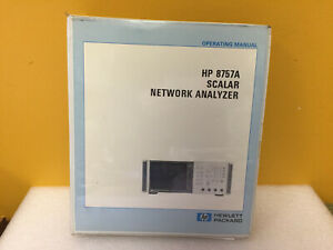 Hp Agilent 08757 90034 8757a Scalar Network Analyzer Operating Manual
