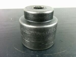 Ad115 Snap On Tools Usa 1 2 Drive 1 1 2 Sae 6pt Shallow Impact Socket