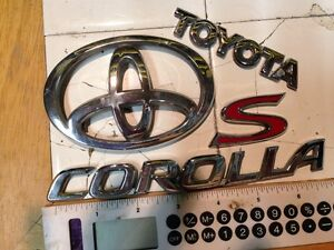 2003 2005 Toyota Corolla S Trunk Emblems Price Reduced