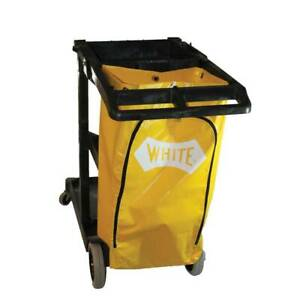Imp Janitorial Cart With 25 Gsllon Yellow Vinyl Bag