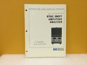 Hp Agilent 08757 90065 8757a Scalar Network Analyzer Operating Manual