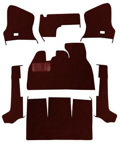 1956 1968 Volkswagen Beetle Convertible Maroon Loop Front Carpet Set 7pc 398004