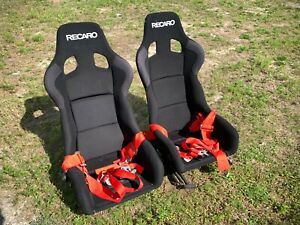 2006 Porsche 911 Carrera S 3 8l 997 1 Recaro Racing Seats Lh Rh Pair Black