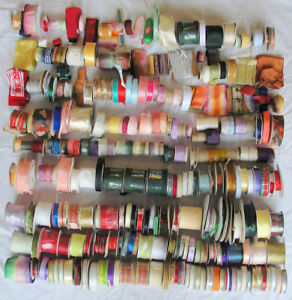 Lot Of 550 Rolls Vintage Imported French Silk Rayon Ribbon Trim Lace