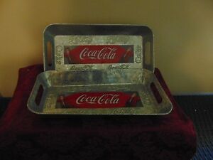 COCA-COLA  OLD TIME SERVING TRAY  from  HOUSTON HARVEST  APPROX.  12