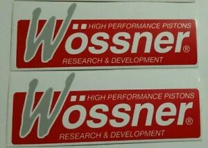 Wossner Pistons Racing Stickers Decals 2x4 75 Free Shipping Offroad Utv Moto
