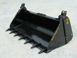 73 4 in 1 Severe Xtreme Duty Tooth Bucket Skid Steer Attachment Ship 199