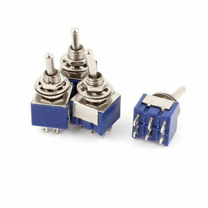 4 Pcs Ac 6a 125v 2 Position 6pins Dpdt On on Micro Mini Toggle Switch
