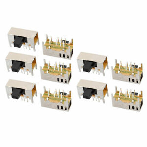 10pcs 3 Position 8p 2p3t Panel Mount Micro Slide Switch Latching Toy Switch