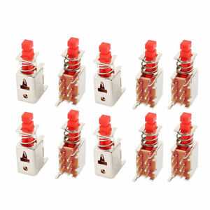 10pcs 6 Pin 2mm Pitch Self locking Dpdt Mini Micro Push Button Switch