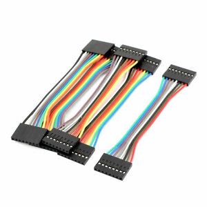 5 Pcs Female To Female 8p Jumper Wires Ribbon Cables Pi Pic Breadboard Diy 10cm