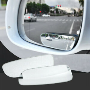 2pcs Car Rearview Mirror Blind Spot Side Convex View Wide Angle Adjustable Glass