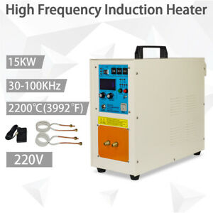 220v 2200 3992 High Frequency Induction Heater Furnace 30 100 Khz 15 Kw