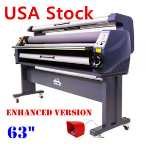 Usa 63 Enhanced Version Heat Assisted Wide Format Cold Laminator With Free Gift