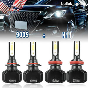 Combo H11 9005 2000w Led Headlight Kit For Toyota Camry 2007 2017 High Low Beam