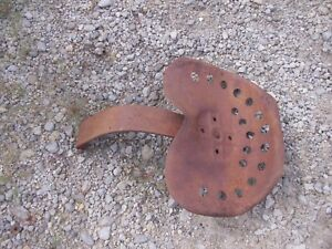 Vintage Tractor Flip Back Over Bracket On Metal Seat Pan