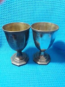Two Sterling Silver Goblets 464 80 Grams Or 16 40 Ozs