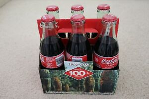Coca Cola 100th Anniversary Louisiana Bottling 6 pack 8oz Bottle NEW Unopened