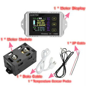 Wireless Dc 0 400v 0 50 100 200 300a Voltage Current Watt Power Lcd Combo Meter