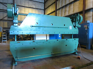 Wysong 65 Ton 12 Ft Mechanical Press Brake 12 Ft X 12 Gauge Capacity video