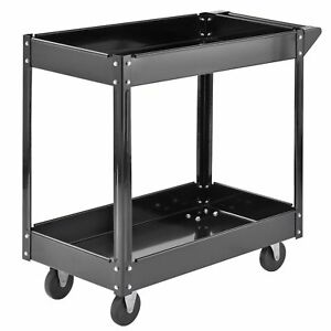 2 Shelf Steel Tools And Supplies Utility Cart Commercial Service Up To 220 Lbs