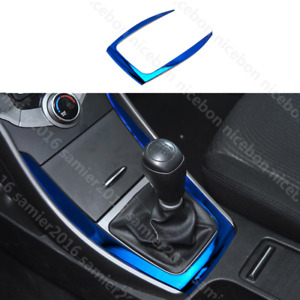 For Hyundai Elantra 2011 2016 Blue Stainless Gearshift Outer Panel Cover Trim