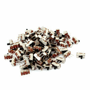 100pcs 3 Terminals Pcb Diy 2 Positions Spdt Horizontal Mini Slide Switch