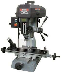 Milling Drilling Machine King Model Pdm 30 12 Speed R8 Spindle Taper