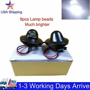 Led License Plate Light Housing For 99 16 Ford Superduty F250 F350 F450 F550 Us