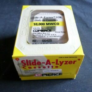 10 Pierce 3ml Slide a lyzer Dialysis Cassettes 10 000 Mwco 66425