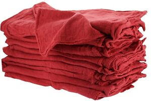 2500 Pieces Industrial Shop Rags Cleaning Towels Red