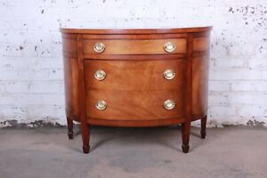 Mahogany Demilune Sideboard Credenza Or Chest Of Drawers