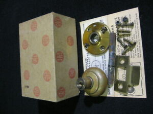 Vintage Safe Screen Door Latch Partial Set With Box Copper Or Brass
