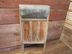 Vintage Rare National Washboard Co 722 Dated Feb 11 1908 Laundry Decor