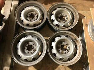 1970 1971 1972 1973 1974 Mopar 14 Rally Wheel Wheels Set Challenger Cuda