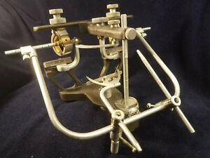 Hanau Dental Articulator W case Facebow Centric Recorder Manual 28 Mounts